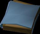 Burnt diary detail