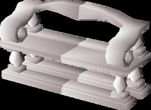 Marble decorative bench built