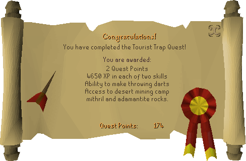 The Tourist Trap reward scroll