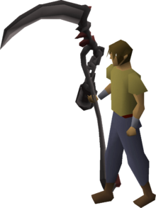 Scythe of vitur (uncharged) equipped