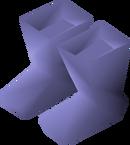 Blue boots detail