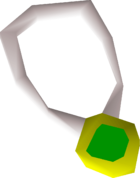 Emerald amulet detail