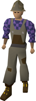 Builder's outfit equipped
