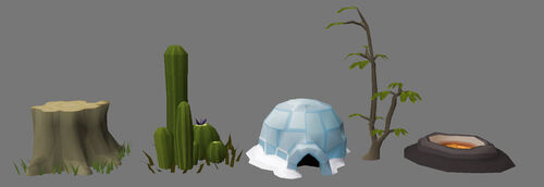 Clan Cup Statues (2)