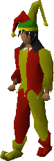 Silly jester outfit equipped male