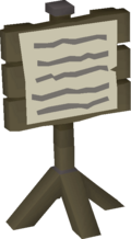 Fossil Island task list notice board