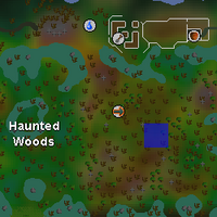 Hot cold clue - Haunted Woods map