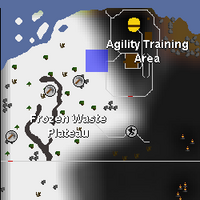 Hot cold clue - south of Wilderness Agility Course map