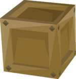 Inconspicuous crate