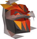 Magma helm (uncharged) detail