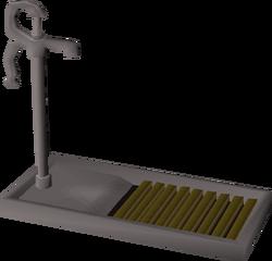 Pump and drain built