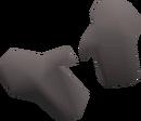 Grey gloves detail