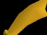 Gilded scimitar