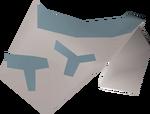 Tribal top (blue) detail