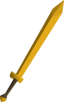 Gilded 2h sword detail