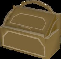 Teak toy box built