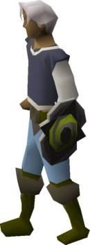 Twisted buckler equipped