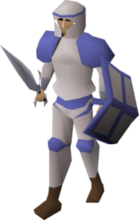 White decorative armour equipped