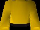 Yellow robe top detail