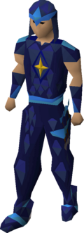 Saradomin blessed d'hide armour equipped