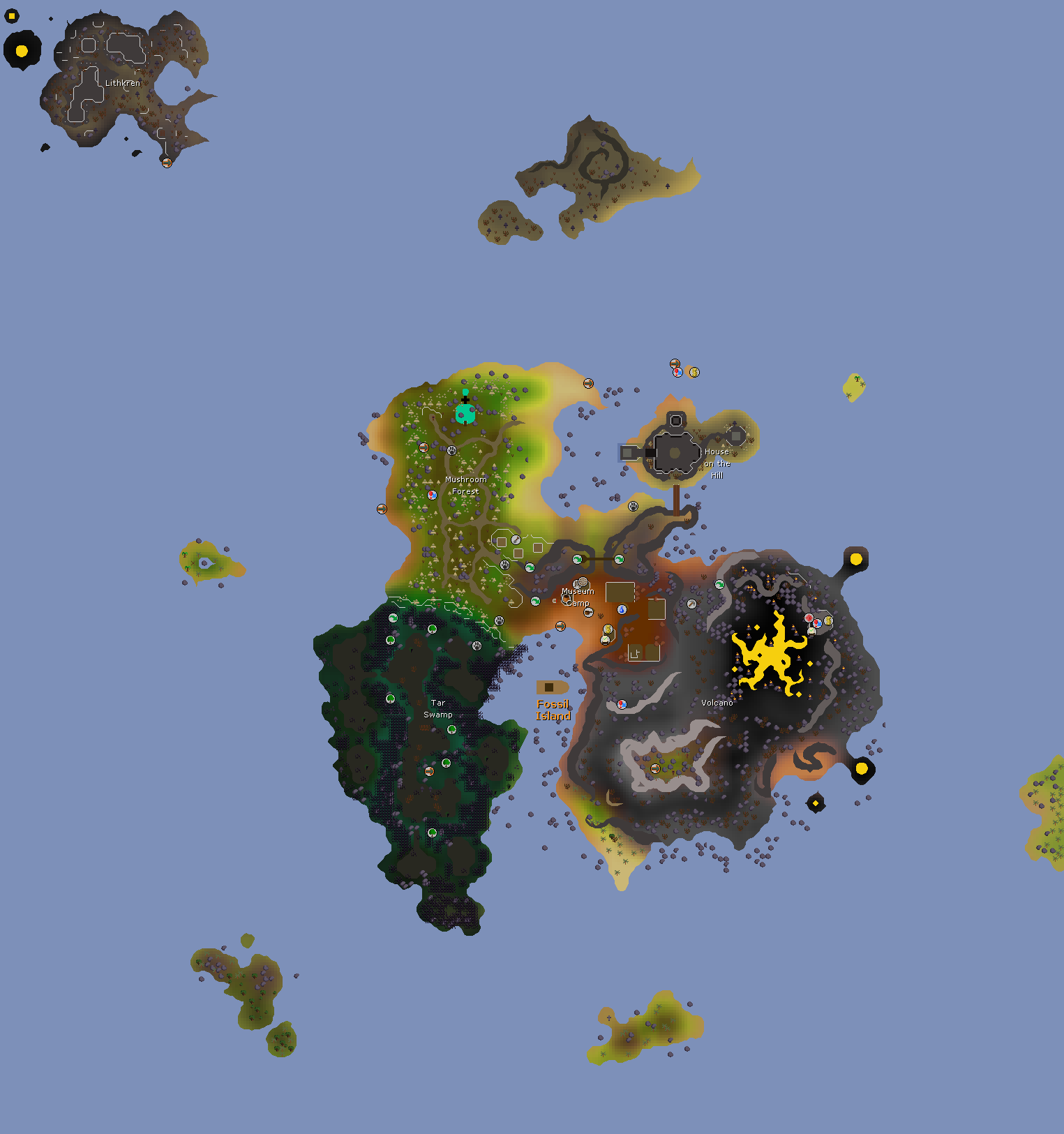 07 Rs World Map.Fossil Island Old School Runescape Wiki Fandom Powered By Wikia