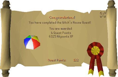Witch's House reward scroll