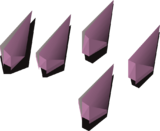 Amethyst arrowtips detail