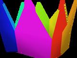 Rainbow partyhat