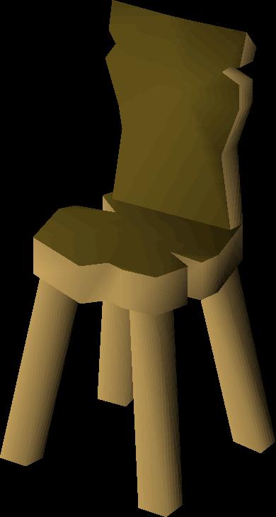 Crude Wooden Chair Built