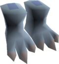 Snow imp costume feet detail