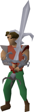 Zamorak godsword equipped
