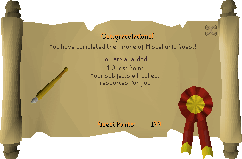 Throne of Miscellania reward scroll