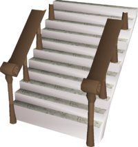 Marble staircase built