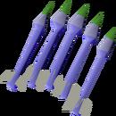Blurite bolts (p) detail