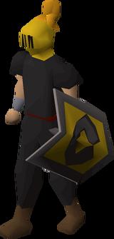 Heraldic helm (Varrock) equipped