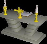 Limestone altar built