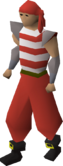 Pirate clothing (red) equipped