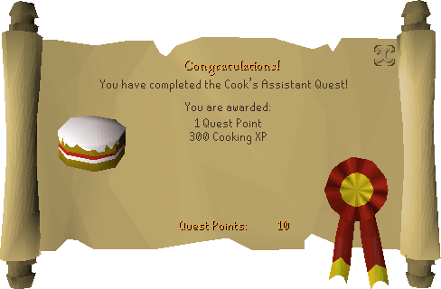 Cook's Assistant reward scroll