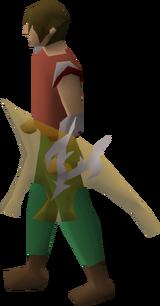 Arcane spirit shield equipped