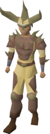 Graahk hunter gear equipped