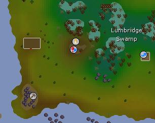 Lumbridge Swamp West Mine map