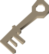 Metal key detail