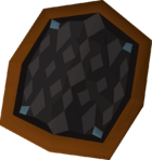 Black d'hide shield detail