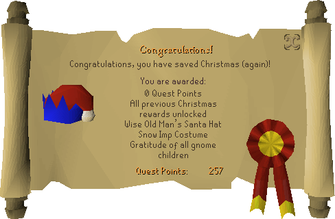 2017 Christmas event reward scroll