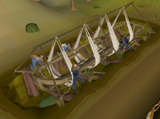 Fossil Island barge construction