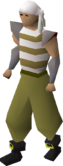 Pirate clothing (beige) equipped