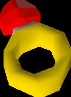 Ruby ring detail