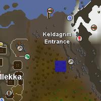 Hot cold clue - near Keldagrim entrance mine map