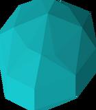 Polished blue gem detail