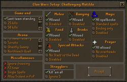 Clan wars setup